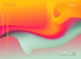 Fondo de color fluido abstracto colorido