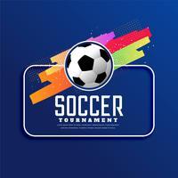 fundo de banner de esportes de torneio de futebol
