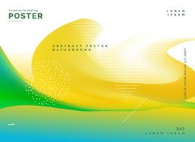 cartel de fondo abstracto de colores brillantes de verano