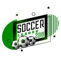 diseño de la bandera del torneo de la liga de fútbol