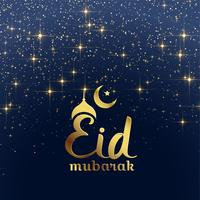 eid mubarak festival card with stars and sparkles
