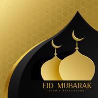 eid mubarak kreativ hälsning med moské topp