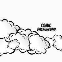 nubes cómicas vectoriales diseño de fondo