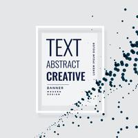 conception de bannière créative avec des particules flottantes