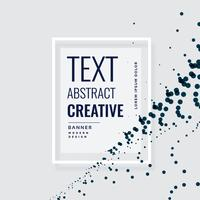 kreativ banderolldesign med flytande partiklar
