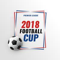 fundo de Copa do torneio de campeonato de jogo de futebol