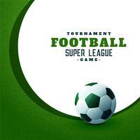 fundo verde do campeonato de esportes de futebol