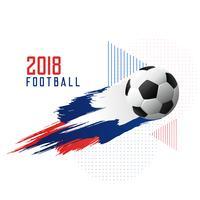 campeonato de fútbol de 2018 copa fondo elegante