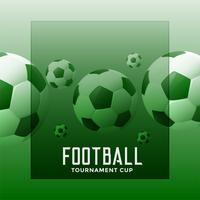 tournoi de football fond vert avec espace de texte
