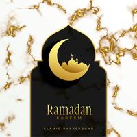 vacker islamisk ramadan kareem festivaldesign
