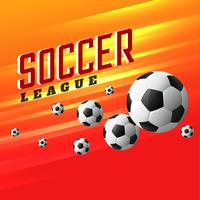 soccer league sports background with flying football