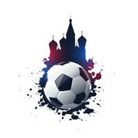 abstracte 2018 Rusland voetbaltoernooi achtergrond