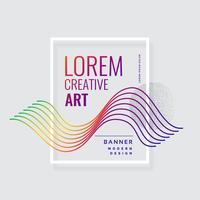 conception de bannière abstraite de lignes colorées