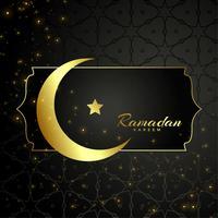 Islamischer Ramadan Kareem Mond und Sternentwurf