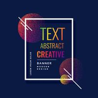 stylish circles abstract banner design