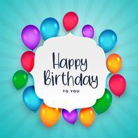 vacker färgrik grattis på födelsedagen ballonger bakgrund