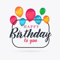 färgglada ballonger för grattis på födelsedagen