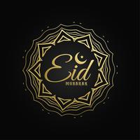 creative islamic symbol with eid mubarak text