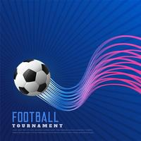 fond de jeu de football bleu avec des lignes ondulées brillantes