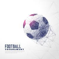 ballon de football fait de particules et de treillis métallique