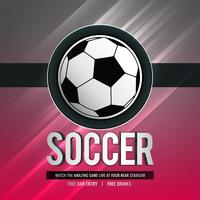 fundo de esportes elegante brilhante torneio de futebol