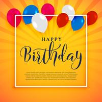 fundo de festa feliz aniversário com espaço de texto