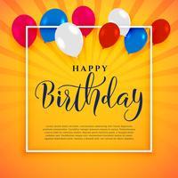 Gelukkige verjaardag viering achtergrond met tekst ruimte