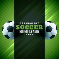 Fondo de fútbol cartel diseño verde