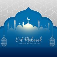 diseño creativo de la tarjeta de felicitación festival eid