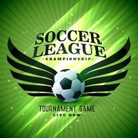 fútbol fútbol elegante fondo verde