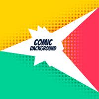 comic background with bright halftone effect