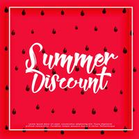 watermelon pattern summer discount background