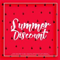 Wassermelonenmuster-Sommer-Rabatthintergrund