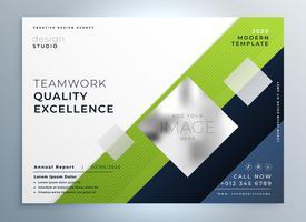 Plantilla de presentación de folleto de folleto de negocio verde moderno