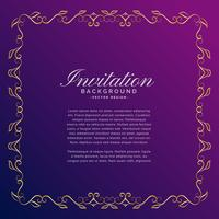 fond d'invitation avec bordure dorée