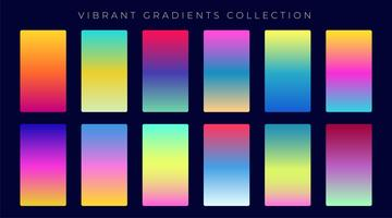 colorful gradient abstract background set