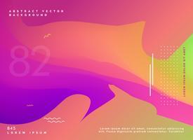 projeto de fundo fluido gradiente colorido
