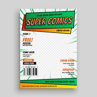 comic book cover layout template