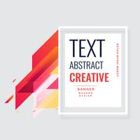 design de fond abstrait bannière génial