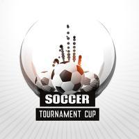 voetbaltoernooi kampioenschap abstracte achtergrond