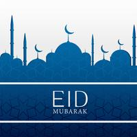 Fondo islámico de eid mubarak con mezquita azul