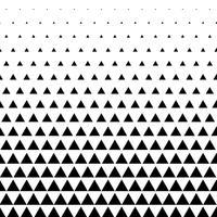 fundo de vetor de padrão de triângulo em preto e branco