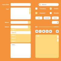 UI Kit Wireframe Elements Vector
