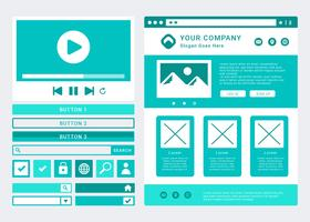 Sitio web Wireframe Layout Vector