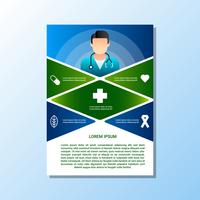 Brochure For Medical And Health Care Concept Templates vector