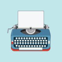 Retro Typewriter Machine Illustration