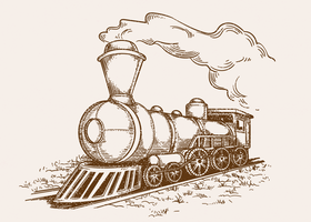 Illustrazione di locomotiva