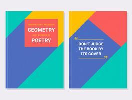 Conjunto de vectores de cubierta de libro motivacional geométrico