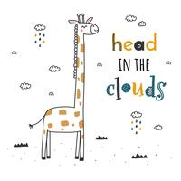 Head In The Clouds Vector
