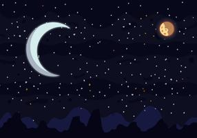 Moon Spacescape Vector